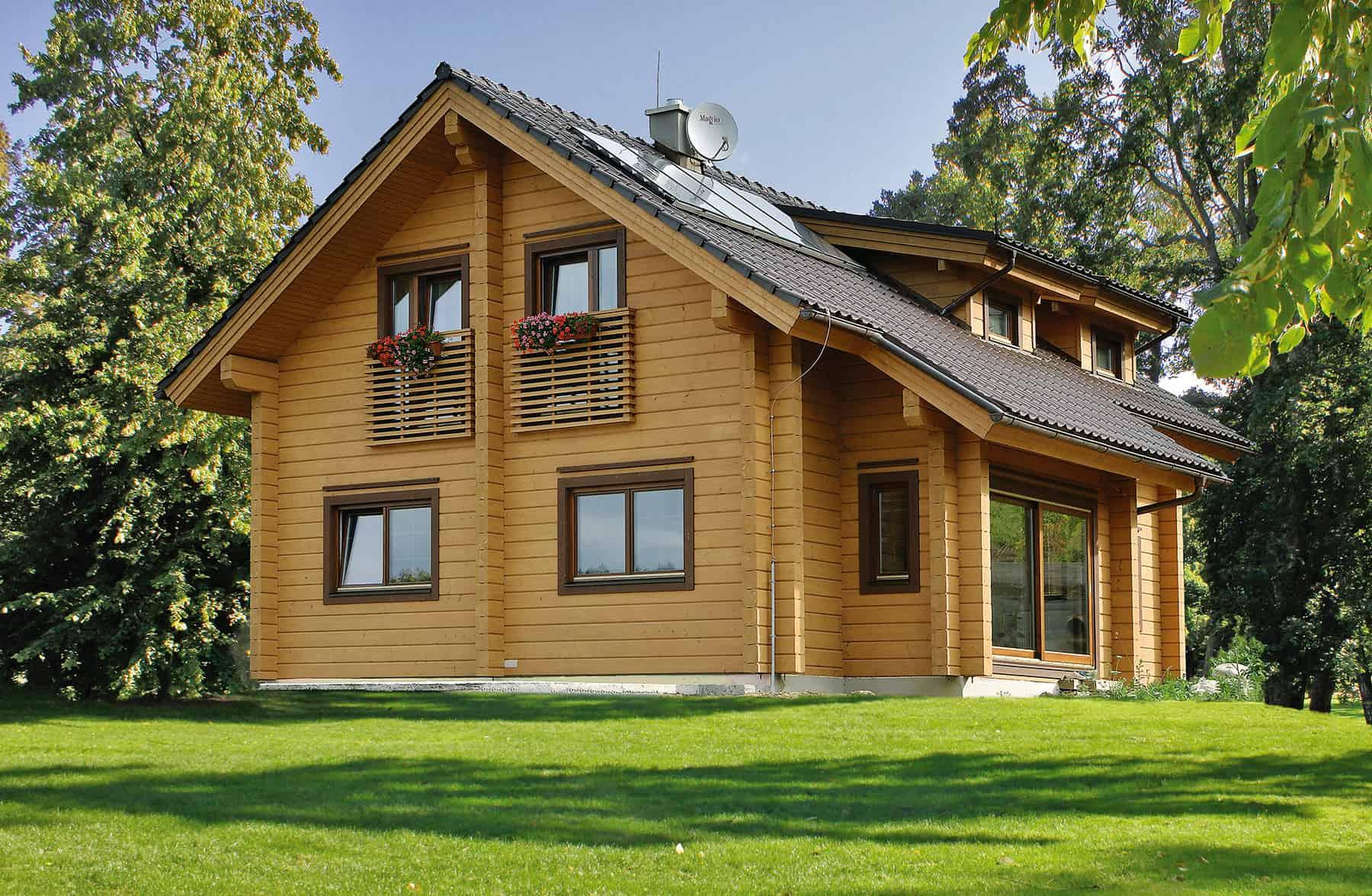 La maison en bois massif pour un cadre de vie sain